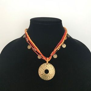 Jewelry - Brass Pendent Necklace